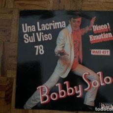 Discos de vinilo: BOBBY SOLO – UNA LACRIMA SUL VISO 78 SELLO: DISQUES IBACH – 60712, DISQUES IBACH – 60 712 . Lote 199842993