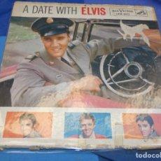Discos de vinil: LP A DATE WITH ELVIS PRESLEY AMERICANO, MUCHSIMO USO, TRALLA Y TUTE....PERO ESPANTOSAMENTE ANTIGUO. Lote 199844273