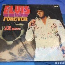 Discos de vinil: DOBLE LP ESPAÑOL ELVIS FOREVER 32 HITS MUY BUEN ESTADO DE VINILO ESPAÑA 1977. Lote 199844412