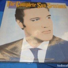 Discos de vinil: DOBLE LP ELVIS PRESLEY COMPLETE SUN SESSIONS CONTEMPORANY ISSUE ESPAÑOL 1987 PRECIOSO. Lote 199845797