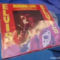 Discos de vinilo: LP ELVIS PRESLEY BURNING LOVE Y OTROS EXITOS DE PELICULAS ESPAÑA 72 VINILO MUY ACEPTABLE LOMO ROZADO. Lote 199846033
