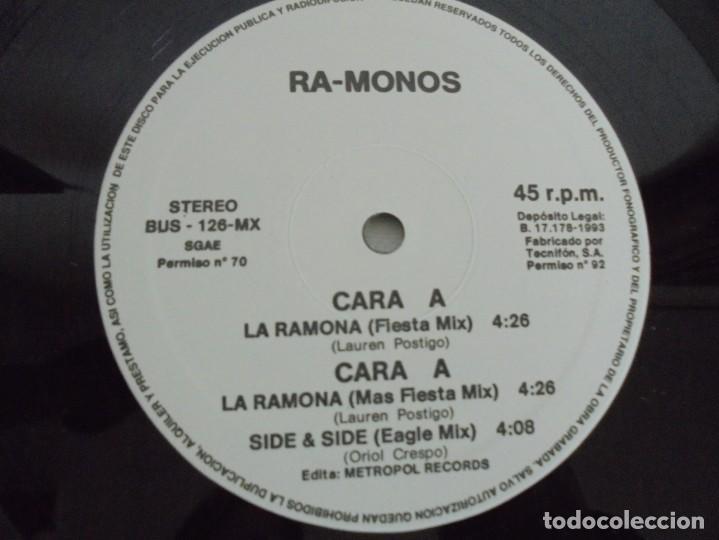 Discos de vinilo: RA-MONOS. ¡LA RAMONA!. MAXISSINGLES VINILLO. URBAN SOUND BARCELONA. METROPOL RECORDS. 1993 - Foto 4 - 199853366