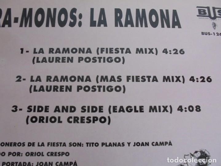 Discos de vinilo: RA-MONOS. ¡LA RAMONA!. MAXISSINGLES VINILLO. URBAN SOUND BARCELONA. METROPOL RECORDS. 1993 - Foto 7 - 199853366