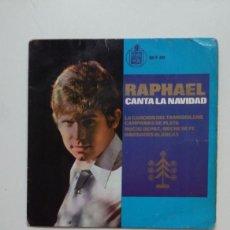 Discos de vinilo: RAPHAEL CANTA LA NAVIDAD. TAMBORILERO / CAMPANAS DE PLATA. SINGLE. TDKDS20. Lote 199856461