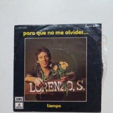 Discos de vinilo: LORENZO SANTAMARÍA - PARA QUE NO ME OLVIDES - SINGLE. TDKDS20. Lote 199858800