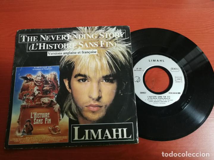 - LIMAHL - THE NEVER ENDING STORY - VERSIÓN INGLESA Y FRANCESA EMI 1984 (Música - Discos de Vinilo - Singles - Pop - Rock Internacional de los 80)