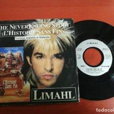 Discos de vinilo: - LIMAHL - THE NEVER ENDING STORY - VERSIÓN INGLESA Y FRANCESA EMI 1984. Lote 199859756