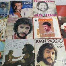 Discos de vinilo: LOTE 10 SINGLES DE JUAN PARDO . Lote 199867261