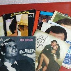 Discos de vinilo: LOTE 12 SINGLES DE JULIO IGLESIAS DE LOS PRIMEROS, . Lote 199867681