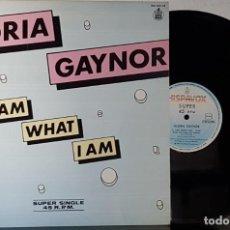 Discos de vinilo: GLORIA GAYNOR - I AM WHAT I AM - MAXI. Lote 199868253