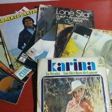Discos de vinilo: LOTE 15 SINGLES DE CANTANTES Y GRUPOS ESPAÑOLES. LN ESTAR, KARINA, LORENZO SANTAMARIA, ETC. Lote 199868576