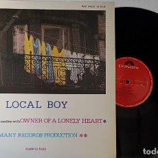 Discos de vinilo: LOCAL BOY - THRILLER - OWNER OF A LONELY HEART MAXI. Lote 199869235