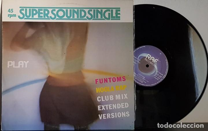 SUPER SOUND SINGLE FUNTOMS - HOOLA RAP - CLUB MIX - EXTENDED - VERSIONS - MAXI (Música - Discos de Vinilo - Maxi Singles - Disco y Dance)