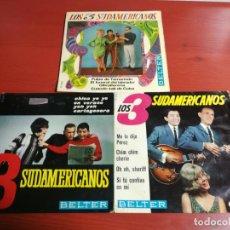Discos de vinilo: LOTE 3 SINGLES DE LOS TRES 3 SUDAMERICANOS, ME LO DIJO PEREZ, LA CHICA YE YE Y PULPA DE TAMARINDO. Lote 199871612