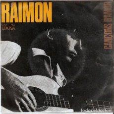 Discos de vinilo: RAIMON - CANÇONS D'AMOR - EP EDIGSA 1965 - CON LETRAS. Lote 199888368