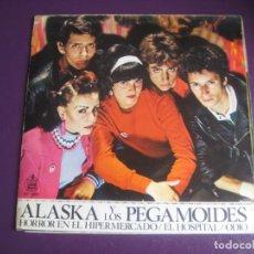 Dischi in vinile: ALASKA Y LOS PEGAMOIDES EP HISPAVOX 1981 - HORROR HIPERMERCADO +2 - VINILO SIN USO, POSTER MUY BIEN. Lote 199903573