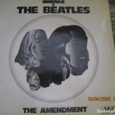 Discos de vinilo: THE AMENDMENT - HOMENAJE A THE BEATLES LP - ORIGINAL ESPAÑOL - ALAMO RECORDS 1973 - STEREO. -. Lote 199923455