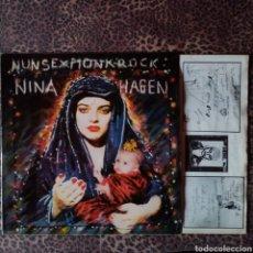 Discos de vinilo: NINA HAGEN - NUN SEX MONK ROCK. Lote 199923587