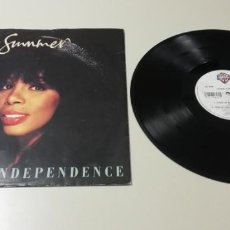 Disques de vinyle: 0420 - DONNA SUMMER STATE OF INDEPENDENCE- VIN 12 - POR VG+ DIS VG+ 1990. Lote 199939818