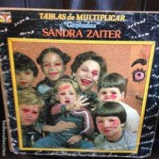 Discos de vinilo: TABLAS DE MULTIPLICAR CANTADAS SANDRA ZAITER MATEMATICAS LP. Lote 199942268
