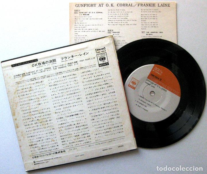 Discos de vinilo: Frankie Laine - Gunfight At O.K. Corral - EP CBS/Sony 1969 Japan BPY - Foto 2 - 199944585