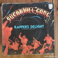 Discos de vinilo: SUGARHILL GANG - RAPPER'S DELIGHT - SINGLE PHILIPS SPAIN 1980. Lote 199952497