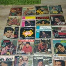 Discos de vinilo: RICHARD ANTHONY LOTE 36 EP 45 RPM / LA VOZ DE SU AMO SPAIN ESPAÑA ESPAGNE . Lote 199981683