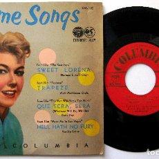 Disques de vinyle: VARIOS (DORIS DAY, FRANKIE LAINE) QUE SERÁ SERÁ - THEME SONGS VOL 9 - EP COLUMBIA 1956 JAPAN BPY. Lote 199997307