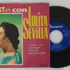 Discos de vinilo: LOLITA SEVILLA EP ANDALUCIA EN ROCK. Lote 199997427