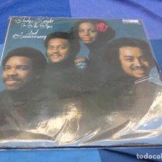 Discos de vinilo: LP GLADYS KNIGHT AND THE PIPS SECOND ANNIVERSARY ESPAÑA 1975 CORRECTISIMO PEGATA EN PORTADA. Lote 200026750