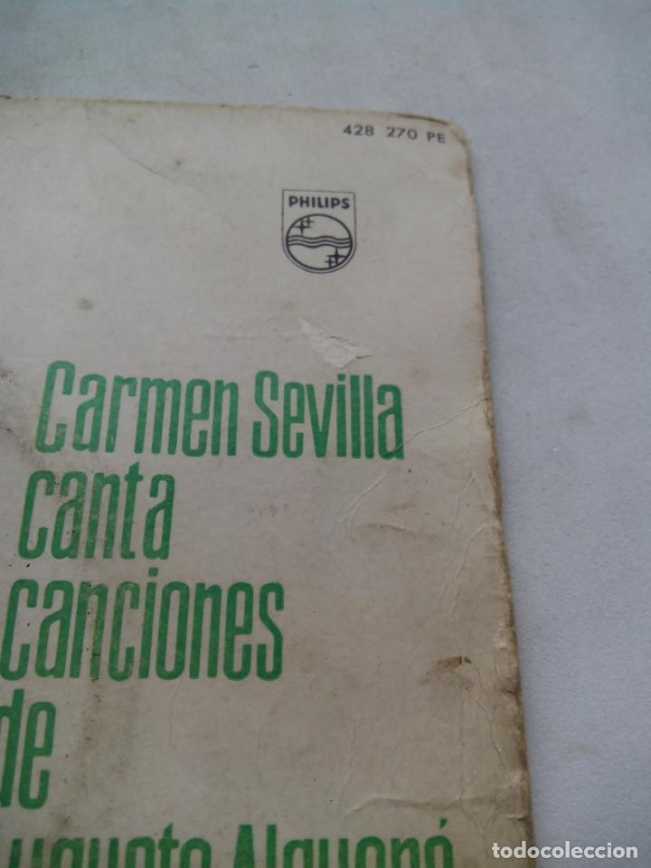 Discos de vinilo: CARMEN SEVILLA CANTA CANCIONES DE AUGUSTO ALGUERÓ. EP PHILIPS 428 270 PE. ESPAÑA 1961. - Foto 5 - 200037677