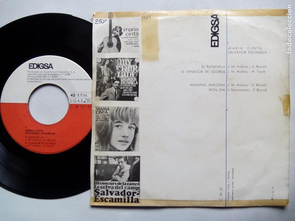 Discos de vinilo: MARÍA CINTA. SALVADOR ESCAMILLA. EL PUTXINEL-LI. EP EDIGSA CM Nº 67. ESPAÑA 1965. - Foto 2 - 200047453