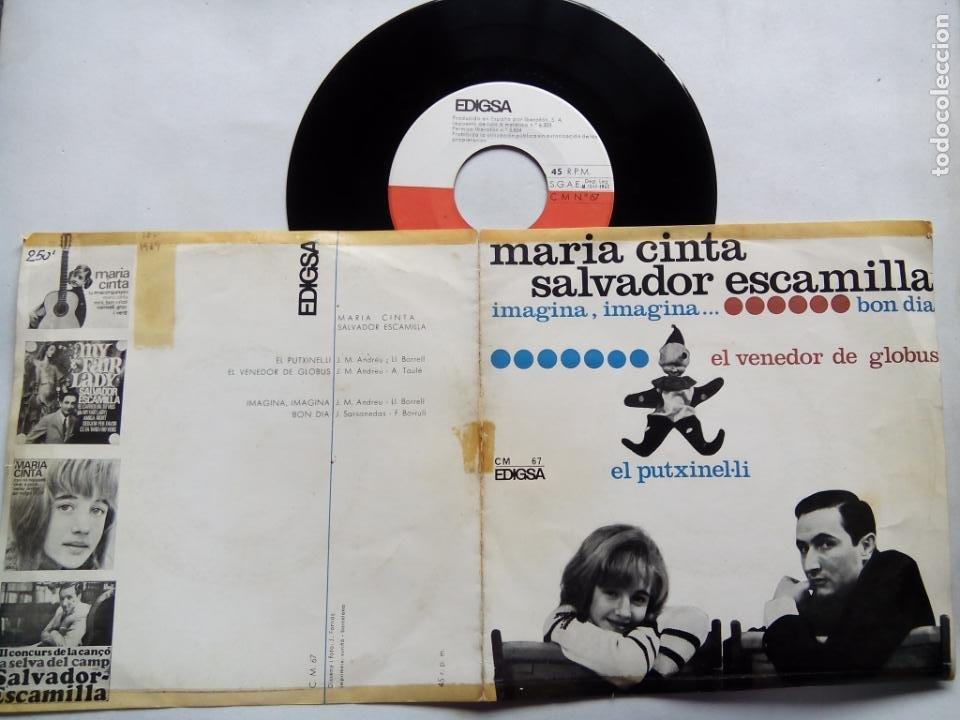 Discos de vinilo: MARÍA CINTA. SALVADOR ESCAMILLA. EL PUTXINEL-LI. EP EDIGSA CM Nº 67. ESPAÑA 1965. - Foto 3 - 200047453