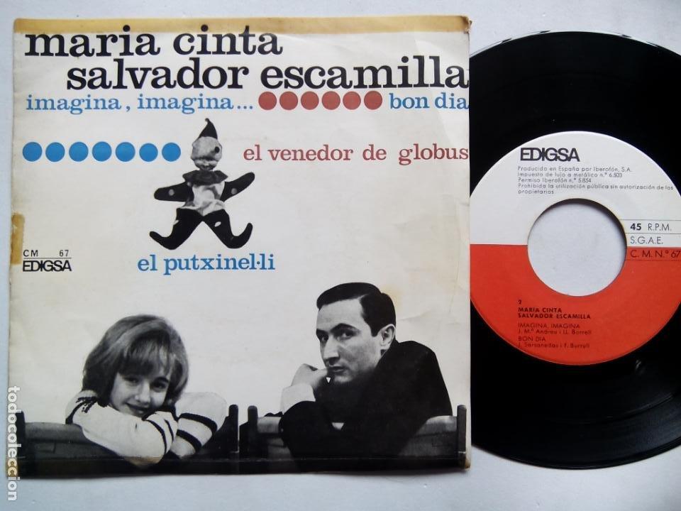 MARÍA CINTA. SALVADOR ESCAMILLA. EL PUTXINEL-LI. EP EDIGSA CM Nº 67. ESPAÑA 1965. (Música - Discos de Vinilo - EPs - Solistas Españoles de los 50 y 60)