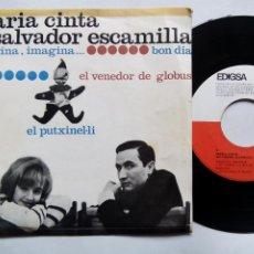 Discos de vinilo: MARÍA CINTA. SALVADOR ESCAMILLA. EL PUTXINEL-LI. EP EDIGSA CM Nº 67. ESPAÑA 1965. . Lote 200047453