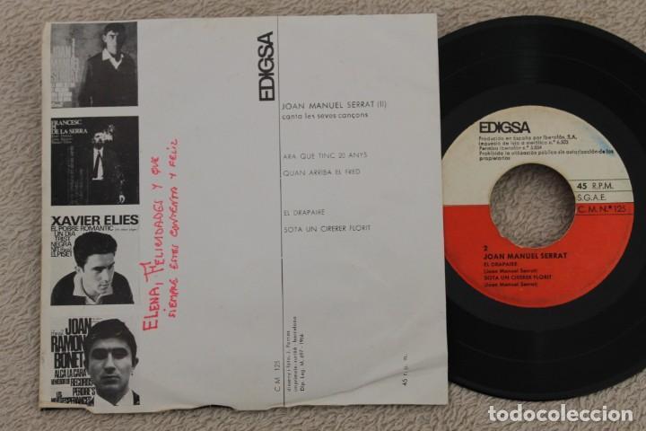 Discos de vinilo: JOAN MANUEL SERRAT ARA QUE TINC 20 ANYS EP VINYL MADE IN SPAIN 1966 - Foto 2 - 200054923