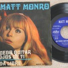 Discos de vinilo: MATT MONRO NO PUEDO QUITAR MIS OJOS DE TI SINGLE VINYL MADE IN SPAIN 1969. Lote 200057645