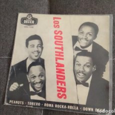 Discos de vinilo: LOS SOUTHLANDERS / PEANUTS / DECCA SPAIN SOLO PORTADA. Lote 200060508