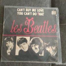 Discos de vinilo: LES BEATLES / CAN`T BUY ME LOVE / SINGLE JUKEBOX ODEON SO111 SOLO PORTADA . Lote 200076468