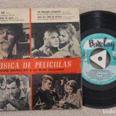 Discos de vinilo: EDDIE BARCLAY MUSICA DE PELICULAS EP VINYL MADE IN SPAIN 1959. Lote 200089503