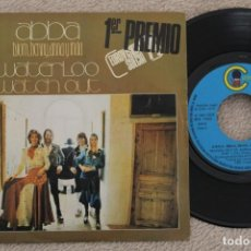Discos de vinilo: ABBA WATERLO EUROVISION 74 SINGLE VINYL MADE IN SPAIN 1974. Lote 200089533