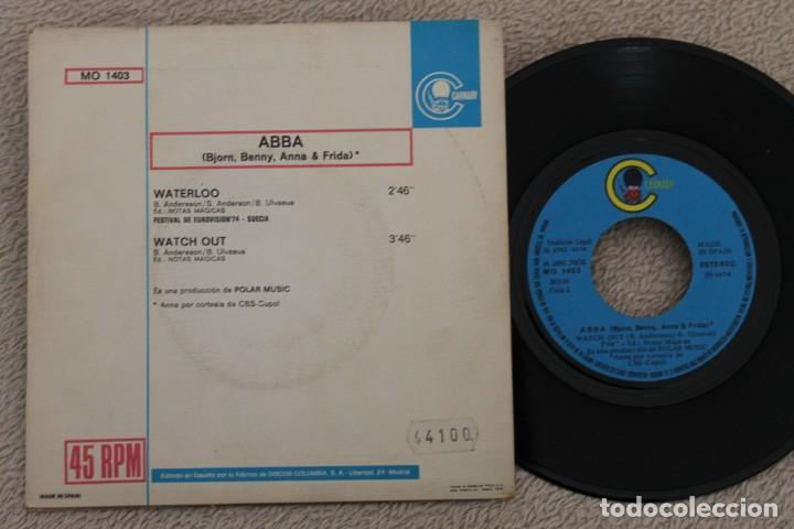 Discos de vinilo: ABBA WATERLO EUROVISION 74 SINGLE VINYL MADE IN SPAIN 1974 - Foto 2 - 200089533
