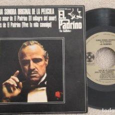 Discos de vinilo: BSO EL PADRINO SINGLE VINYL MADE IN SPAIN 1972. Lote 200093157