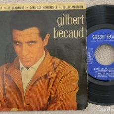 Discos de vinilo: GILBERT BECAUD ET MAINTENANT EP VINYL MADE IN SPAIN 1962. Lote 200093277