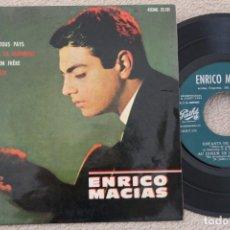 Discos de vinilo: ENRICO MACIAS ENFANTS DE TOUS PAYS EP VINYL MADE IN SPAIN 1964. Lote 200093862
