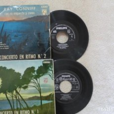 Discos de vinilo: LOTE 2 SINGLES RAY CONNIFF CONCIERTO EN RITMO 1 Y 2 EP VINYL MADE IN SPAIN 1960. Lote 200094167