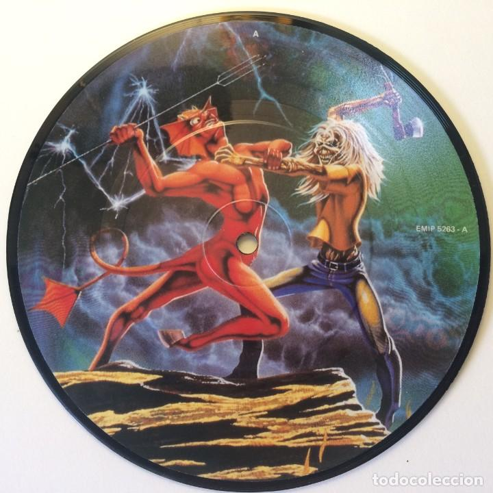 IRON MAIDEN – RUN TO THE HILLS / RUN TO THE HILLS PICTURE DISC UK 1982 EMI (Música - Discos - Singles Vinilo - Heavy - Metal)