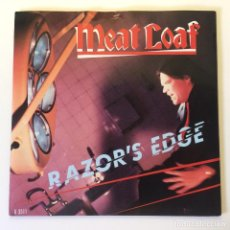 Discos de vinilo: MEAT LOAF ?– RAZOR'S EDGE / YOU NEVER CAN BE TOO SURE ABOUT THE GIRL PROMO UK 1983 EPIC. Lote 200095553