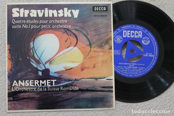 ANSERMET STRAVINSKY SINGLE VINYL MADE IN SPAIN 1963 (Música - Discos - Singles Vinilo - Clásica, Ópera, Zarzuela y Marchas)