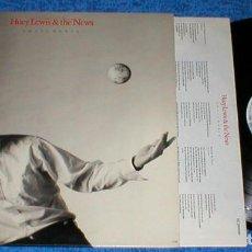 Discos de vinilo: HUEY LEWIS & THE NEWS SPAIN LP 1988 SMALL WORLD CLASSIC POP ROCK INSERT + LETRAS BUEN ESTADO !!. Lote 200111788